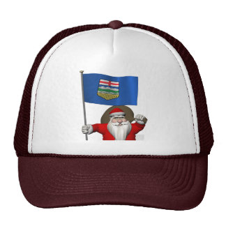 Santa Claus With Flag Of Alberta CDN Cap