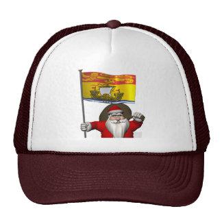 Santa Claus With Flag Of New Brunswick CDN Cap