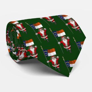 Santa Claus With Flag Of North Carolina Tie