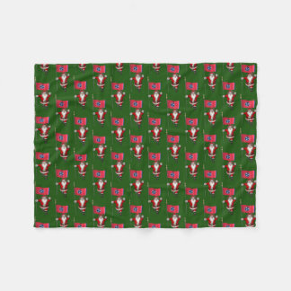 Santa Claus With Flag Of Tennessee Fleece Blanket