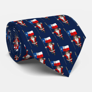 Santa Claus With Flag Of Texas Tie