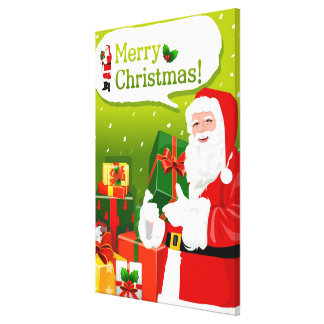 Santa Claus with gifts Canvas Print