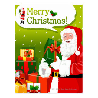Santa Claus with gifts Postcard