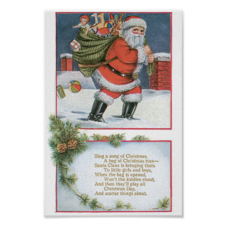 Santa Claus with Presents Poster