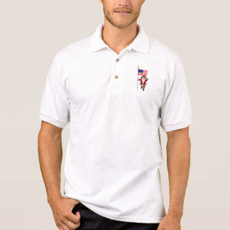 Santa Claus With Star Spangled Banner Polo T-shirt