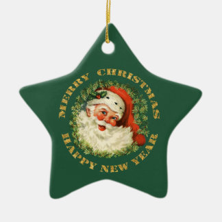 Santa Claus Wreath Christmas Ornament
