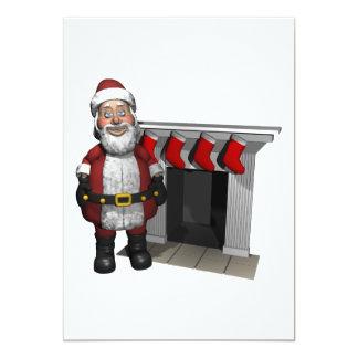 Santa Clause 13 Cm X 18 Cm Invitation Card