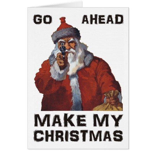 Santa Clause aiming gun - Make My Funny