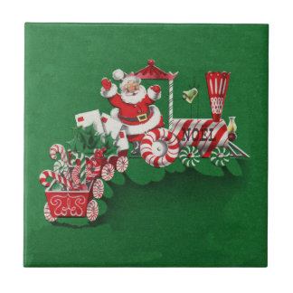 Santa Clause Candy Train Tile