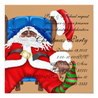 Santa Clause christmas invitation