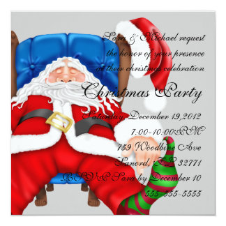 Santa Clause christmas invitation