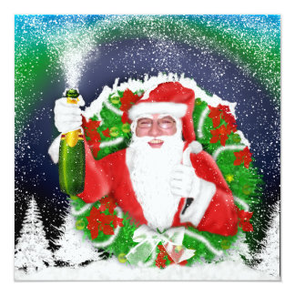 Santa clause custom photo invitations