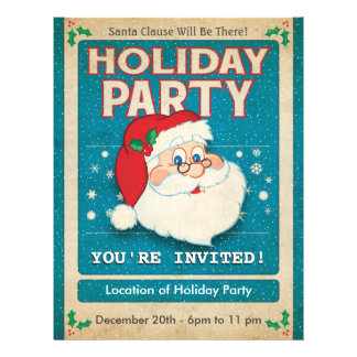 Santa Clause Holiday Party 21.5 Cm X 28 Cm Flyer
