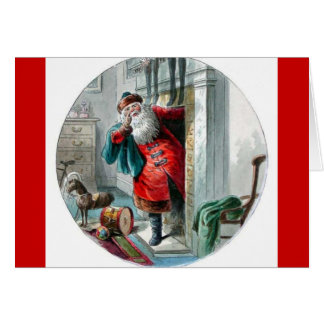 Santa Clause In the Chimney Card