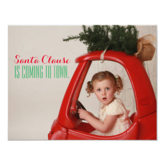 Santa Clause is Coming to Town Christmas Card 11 Cm X 14 Cm Invitation Card