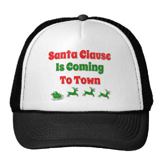Santa Clause is Coming to Town Christmas Mesh Hat