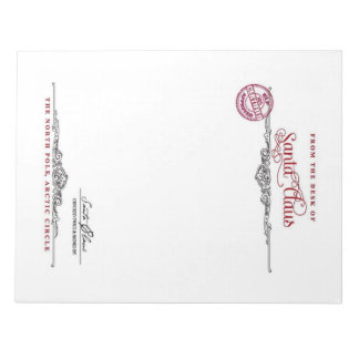 Santa Clause Letterhead Notepad