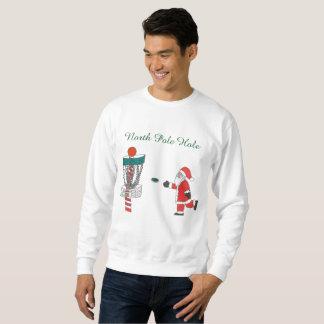 Santa Clause North Pole hole disc golf sweatshirt