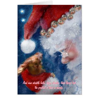Santa Clause Orangutan Christmas Card