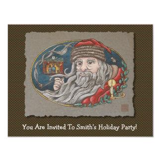 Santa Clause & Pipe 11 Cm X 14 Cm Invitation Card