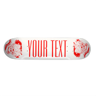 Santa Clause Red and White Christmas Skateboard