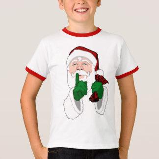 Santa Clause Ringer T-Shirt Kids Santa Shirt
