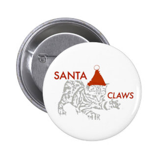 Santa Claws 6 Cm Round Badge