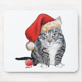 Santa Claws Cat with Ornament Mousepads