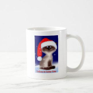 Santa Claws Christmas Cat Mug