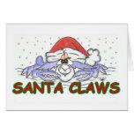 Santa CLAWS Christmas Crab Greeting Card
