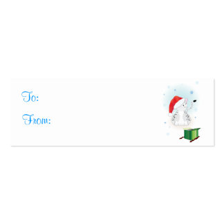 Santa Claws Gift Tags Pack Of Skinny Business Cards