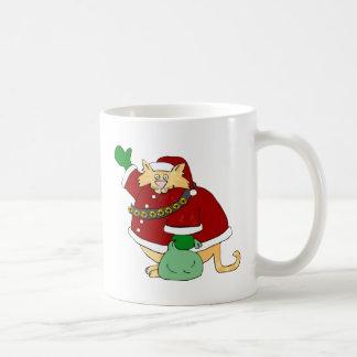 Santa Claws Kitty Mug