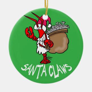 Santa Claws Lobster Christmas Ornament!