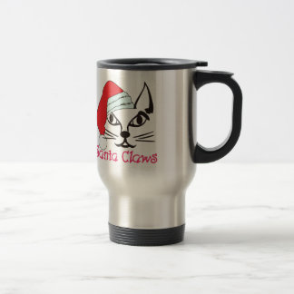 Santa Claws Stainless Steel Travel Mug