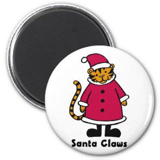 Santa Claws Tiger Magnet