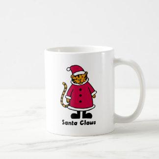 Santa Claws Tiger Mugs