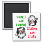 Santa Clean Dirty Dishwasher Magnet