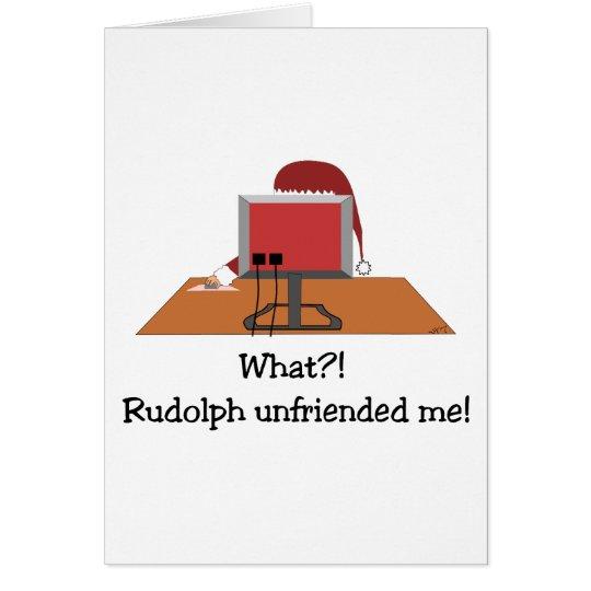 Santa Comic - Unfriended Me! Card