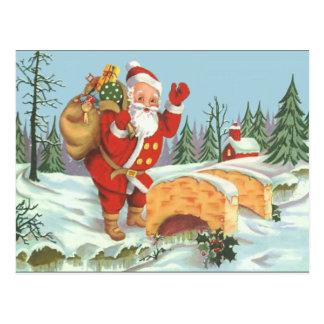 Santa Coming To Town Postcard