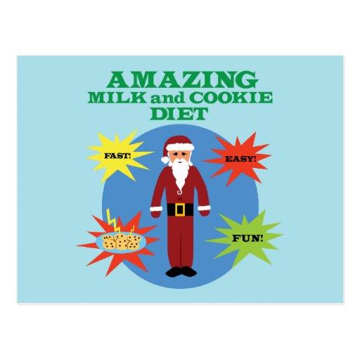 Santa Cookie Diet Postcard