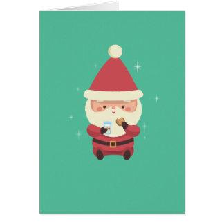 Santa Cookies and Milk Card