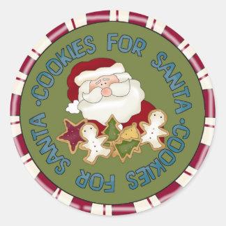 Santa Cookies Classic Round Sticker