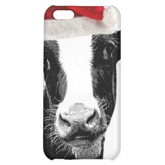 Santa Cow - Dairy Cow wearing Santa Hat iPhone 5C Case