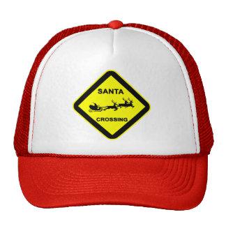 Santa Crossing Road Sign Cap