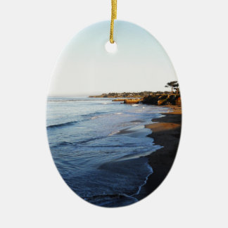 Santa Cruz Beach Christmas Ornament