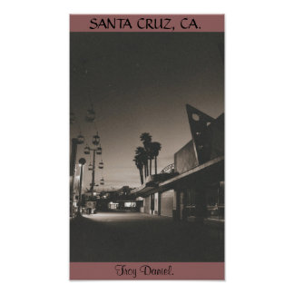 SANTA CRUZ BOARDWALK. POSTER
