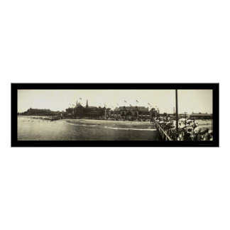 Santa Cruz CA Beach Photo 1908 Poster