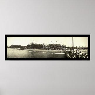 Santa Cruz CA Beach Photo 1908 Posters