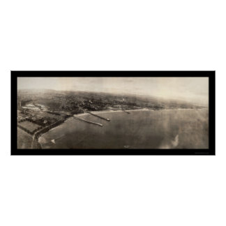 Santa Cruz CA Panorama Photo 1906 Poster
