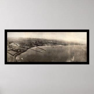 Santa Cruz CA Panorama Photo 1906 Print